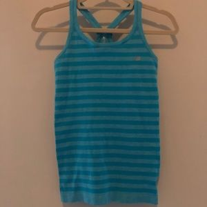 New Balance Blue Striped Athletic Top Small F42